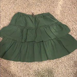 Jcrew girls corduroy ruffle skirt.